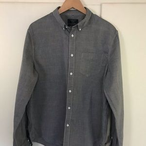 Rag &Bone Gray Dress Shirt XXL